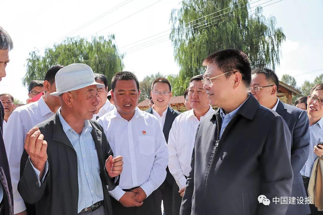 王蒙徽部长带队赴青海省湟中县大通县开展扶贫调研