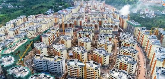云南永善1.3万群众热热闹闹搬新家!