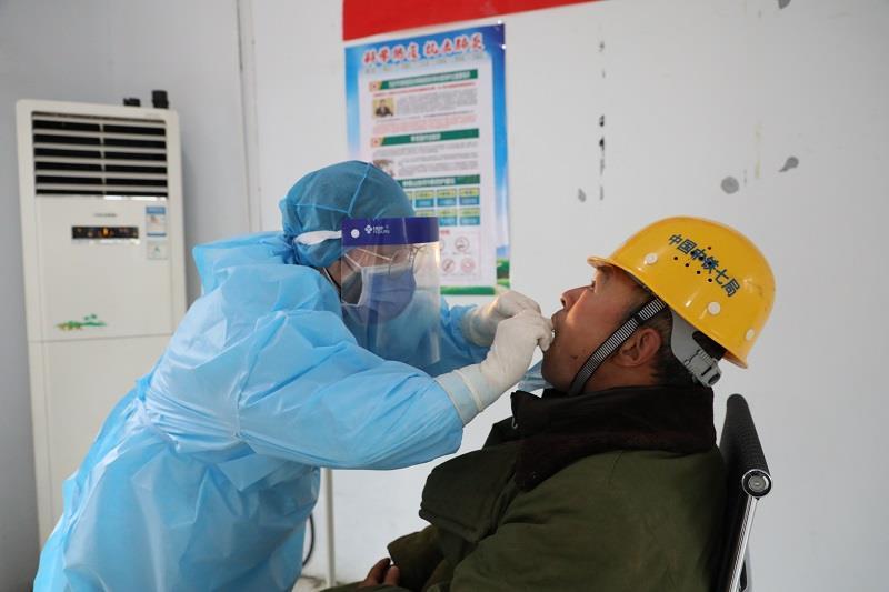 核酸检测进工地 中铁七局五公司开启复工安全键