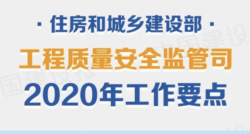住房和城乡建设部工程质量安全监管司2020年工作要点